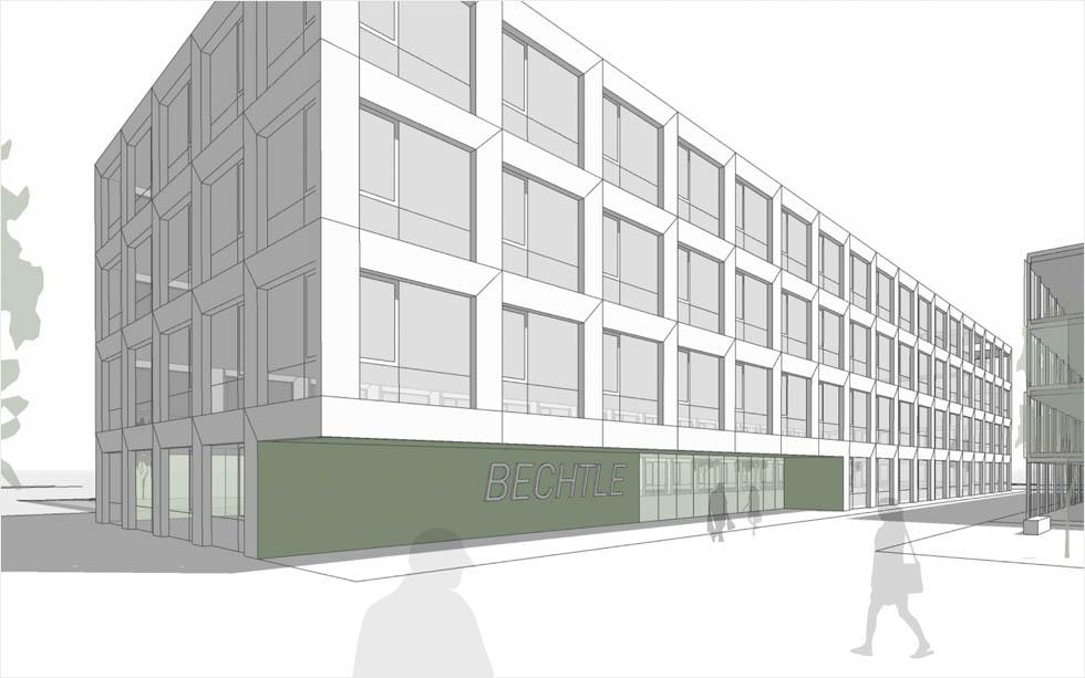 Neubau Bürogebäude Bechtle, Ettlingen